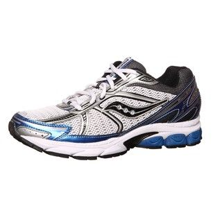 Saucony Mens ProGrid Jazz 14 White/Royal Technical Running Shoes