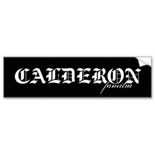 CALDERON Sticker Bumper Sticker