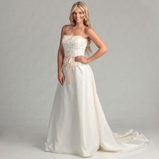 Eden Bridals Womens Ivory Strapless Bridal Dress