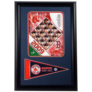 2009 Boston Red Sox 12x18 Print with Mini Pennant