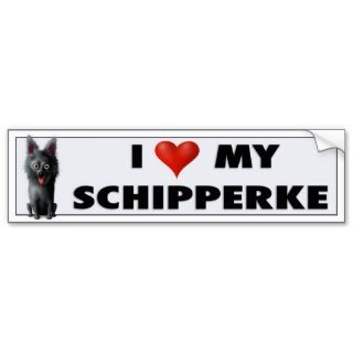 Schipperke Love Sticker Bumper Sticker