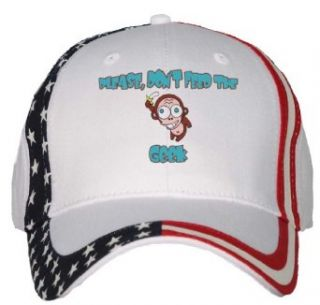 Please, Dont Feed The Geek USA Flag Hat / Baseball Cap