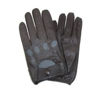 Isotoner Mens Smooth Leather Driving Glove With Covered