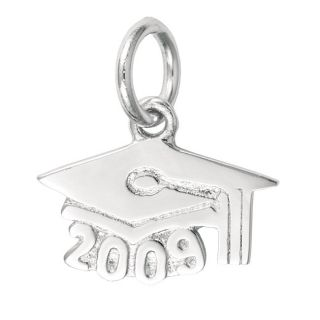 Sterling Silver Graduation Cap 2009 Charm