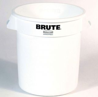 Rubbermaid Brute 10 gal. White Trash Can