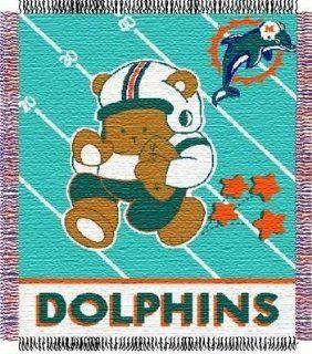 Miami Dolphins Baby Blanket Bedding Throw 36 x 46