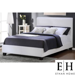 ETHAN HOME Tuscany Villa Queen Sized White Upholstered Bed