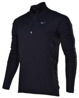 Nike Mens Half Zip Pullover Running Training Shirt Black