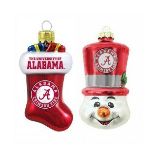 Alabama Crimson Tide Blown Glass Stocking and Top Hat