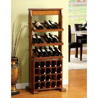 Sebastian Antique Oak 38 bottle Wine Rack