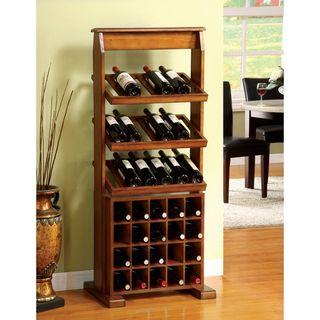 Sebastian Antique Oak 38 bottle Wine Rack