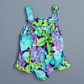 Carters Infant Girl 1 piece Floral Swimsuit