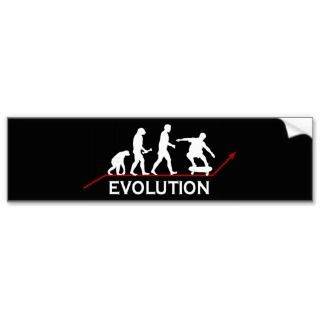 Skateboarding Evolution sticker Bumper Sticker