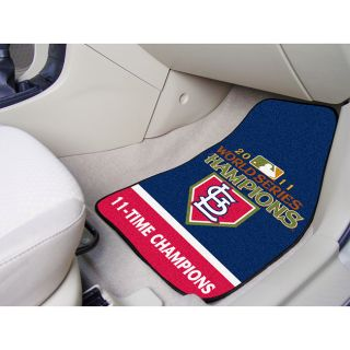 FANMATS MLB   St. Louis Cardinals 2011WORLDSERIES 2 pc Carpet Car Mat