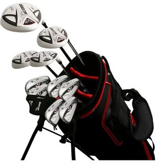 Pro Score Mens Nano White 17 piece Right handed Golf Club Outfit Set