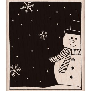 Hero Arts Snowman & Snowflakes Mounted Rubber Stamp