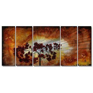 Megan Duncanson Sun Tree Metal Wall Art