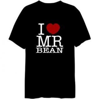I Love Mr Bean Mens T shirt Clothing
