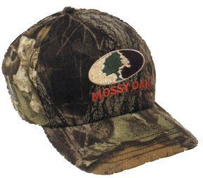 Mossy Oak Camo Junior Explorer Six Panel Logo Cap   Mossy