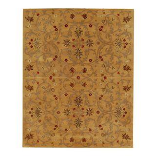 Hand tufted Jarrah Gold Wool Rug (8 x 11)