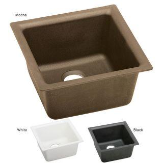 Elkay ELG1515 E granite 15.75x15.75 in Single bowl Universal mount