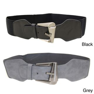 Ladies Basics Womens Contoured Elastic High Waist Stretch Belt