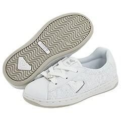Roxy Kids Kaya (Toddler/Youth) White/Silver Glitter Athletic