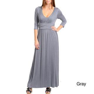 Stanzino Womens Round neck Long Dress