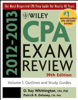 Wiley CPA Exam Review 2012 2012 Outlines and Study Guides (Paperback