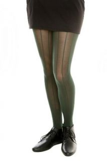 Forest Green Ribbed Tights Clothing