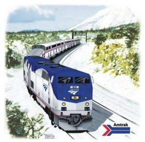 Amtrak Southwest Chief Railroad Train T Shirt Tee Shirt