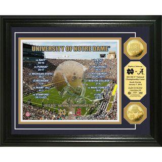 Highland Mint Notre Dame 2013 BCS National Championship Game Gold