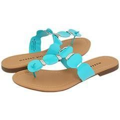 Madden Girl Fridaa Turquoise Patent Sandals