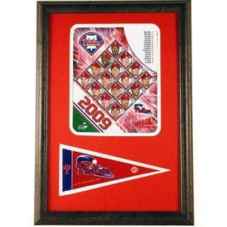 2009 Philadelphia Phillies 12x18 Print with Mini Pennant
