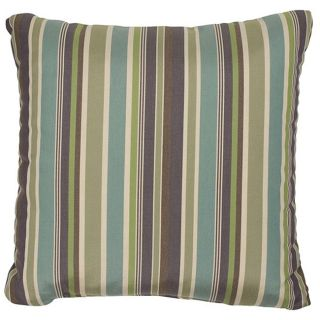 Green/ Blue/ Purple 18 inch Knife edged Outdoor Pillows with Sunbrella