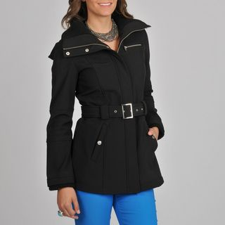 Miss Sixty Womens Black Belted Active Jacket