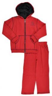 Akademiks Boys Red & Black 2Pc Sweat Suit Set (6