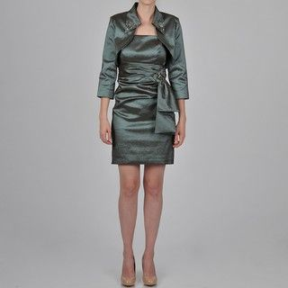 Ignite Womens Embellished Bolero Jacket Dress