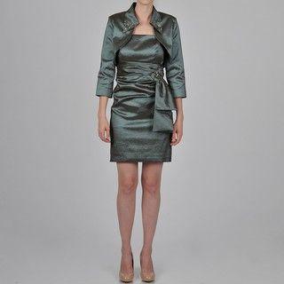 Ignite Womens Embellished Bolero Jacket Dress