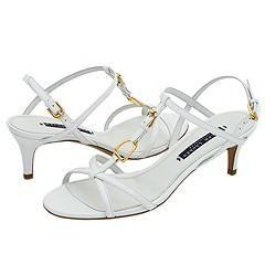 Ralph Lauren Collection Winona White Calf Sandals