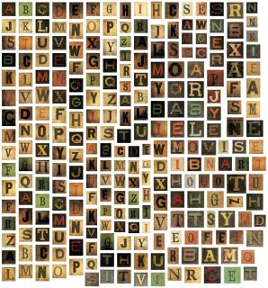 Idea Ology Alpha Tiles Chipboard Letters .6875 255/Pkg  Today $7.99
