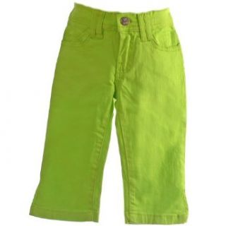 New 2B Real Little Girls Green 5 Pocket Capri Pants 5/6
