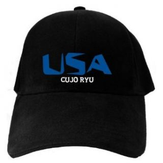 Caps Black Usa Cujo Ryu  Martial Arts Clothing