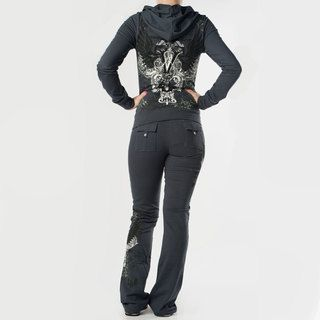 Tabeez Womens Victory French Terry Rhinestone Track Suit