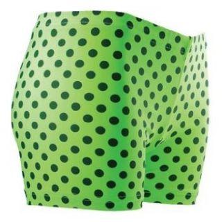 GemGear Green/Black Polka Dot Volleyball Spandex Shorts