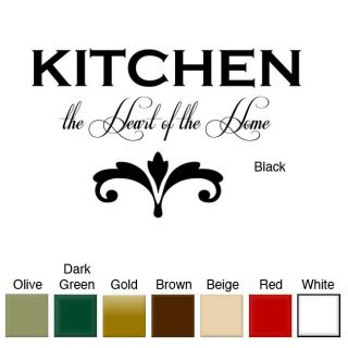 Kitchen the Heart of the Home Vinyl Wall Art Decal Was $23.99 Today