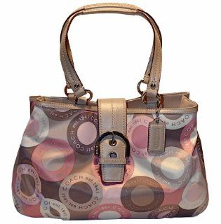 Signature Snaphead East West Bag Purse Tote 18805 Pink Multi Shoes