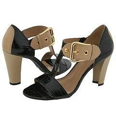 Franco Sarto Detract2 Black Croc Sandals