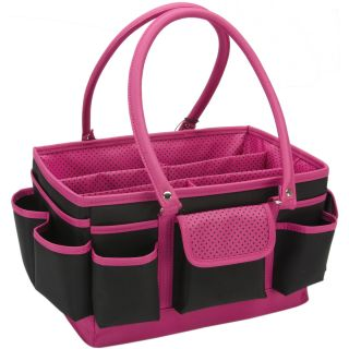 Moon Open Top Craft Tote Black/Pink Dots Today $26.99