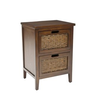 Pescot Dark Walnut Side Table